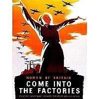 War Women Factory Land Girl Ww2 UK Vintage Art Print Poster Wall Decor 12X16 Inch 戦争宣伝女性たち女の子イギリスビンテージポスター壁デコ