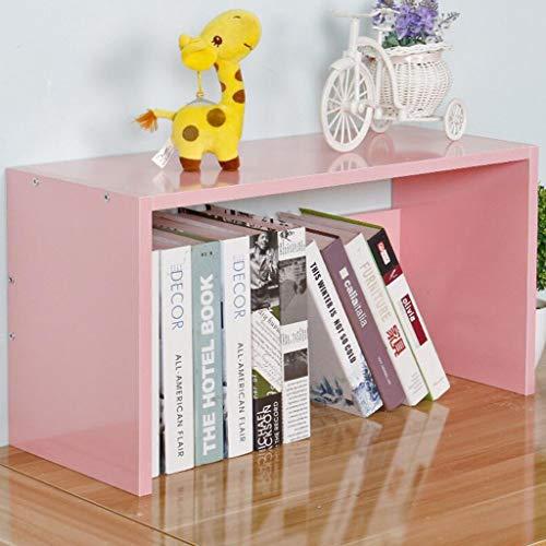 CJH Kleine Boo kshelf Op de Tafel Safe Houten Eenvoudige Wild Student Bureau Opslag Rack Grote Capaciteit roze