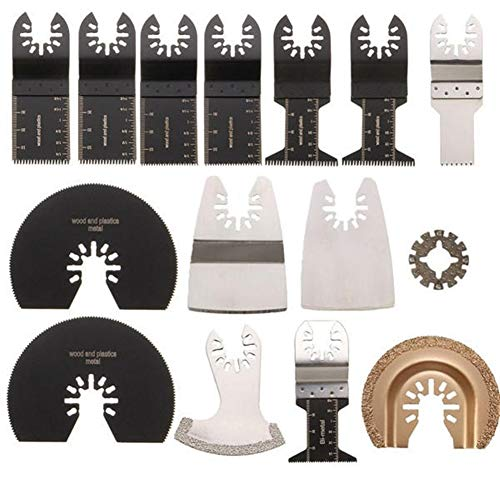 Amazing Deal Oscillating Tools 15pcs Oscillating Multitool Accessory Oscillating Tools Saw Blades Ki...
