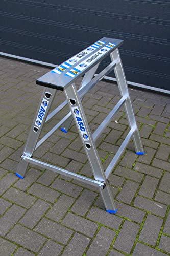 Alumexx Handy-X - Werkbank - Bock - Plattform - Gerüst - Aluminium - Ständer - Mehr als eine Funktion