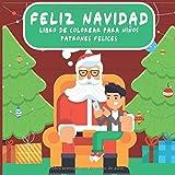 Feliz Navidad - Libro de colorear para niños - Patrones felices