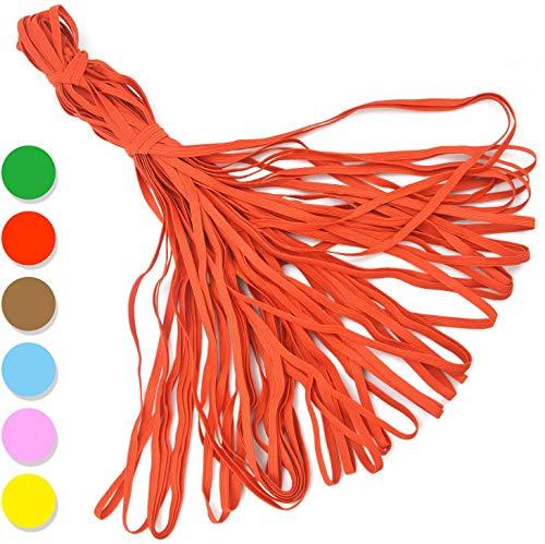 Aobp 36 Meter Gummiband Elastische Schnur Band Breit Gummilitze Bunt Gummikordel für DIY Handwerk Nähen und Basteln Nähzubehör (Rot)