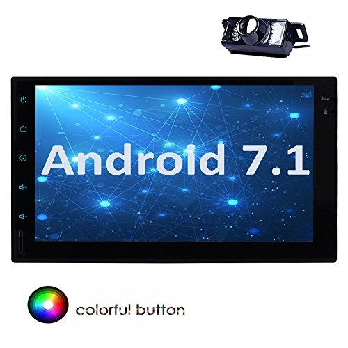 EINCAR Android 7.1 Octa Core 2 GB + 32 GB 7 Pulgadas Radio estéreo Doble 2 DIN en el Tablero Unidad de Apoyo GPS navegación RDS AutoRadio USB SD Subwoofer 3G 4G WiFi OBD2 + cámara Gratis incluida.