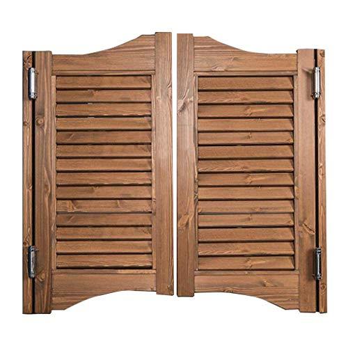 Swinging Cafe Doors, Innen Swing Louver Holz Tür Bar Pub Auto Close Saloon Tür, verstärken Sie langlebige Balkon Partition Swinging Door - Alle Scharniere - Andere Größen erhältlich
