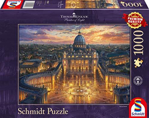 Schmidt Spiele- Thomas Kinkade - Puzzle (1000 Piezas), diseño de Vaticano, Color carbón (59628)