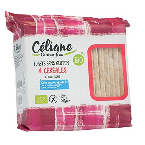 Les Recettes de Céliane Toasts 4 Céréales 100g Bio / Vegan