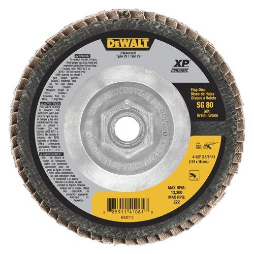 DeWalt dwa8282h T29XP cerámica, gramaje 80, 4–1/2'x 5/8'