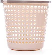 LONGren Round Slim Decorative Plastic Small Trash Can Wastebasket, Garbage Container Bin for Bathrooms, Kitchens, Home Off...