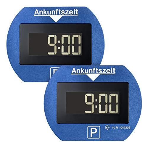 Park Lite Needit 2er-Spar-Set Digitale Parkscheibe, automatische Parkzeiteinstellung, blau