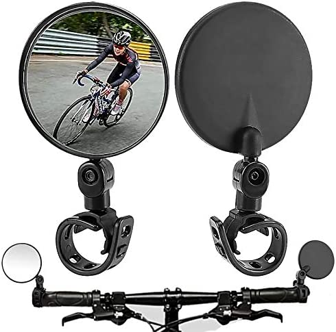 Bike Mirror Bicycle mirrors for handlebars 360 Rotatable Handlebar Bike Rear View Mirrors Upgrade product image
