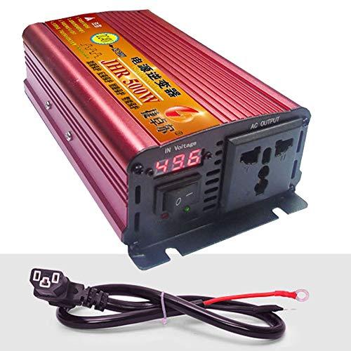 XBNBQ 500 W 1200 W 1700 W 2200 W 3000 W 4000 W Wechselrichter Doppel-Wechselstromsteckdosen DC 36 V 48 V 60 V 72 V bis 220 V Wechselstrom-Autokonverter mit Digitalanzeige60V-500W