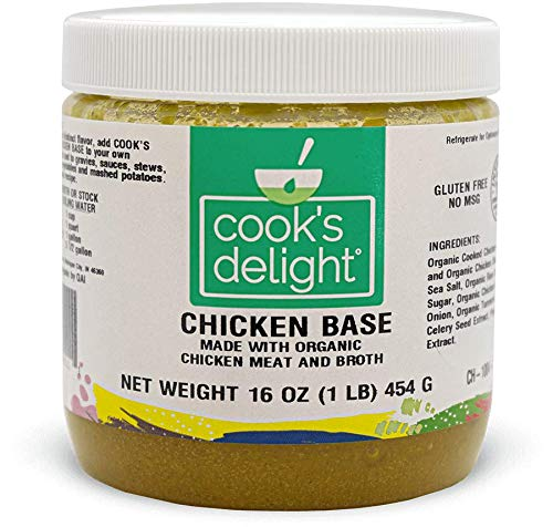Cook's Delight Chicken Base made with Organic Meat and Broth CH-1004 (1 Pack)