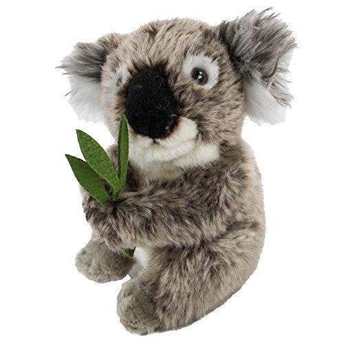 Teddys Rothenburg Kuscheltier Koalabär 16 cm mit Bambus grau/grün sitzend Plüschkoalabär