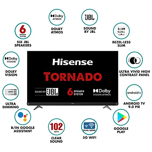 Hisense 139 cm (55 inches) 4K Ultra HD Smart Certified Android LED TV 55A73F (Black) (2020 Model) | With JBL 6 Speaker System