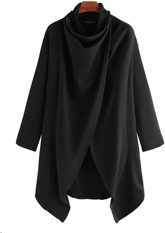 GTHTTT Mens Poncho Cape Cloak Comfortable Clothes House Coat Sweatshirt Casual Hip Hop Long Sleeve Cloak Cotton Blend Pullove