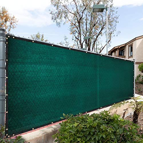 Royal Shade 6' x 50' Green Fence Privacy Screen Cover Windscreen, with Heavy Duty Brass Grommets, Custom Make Size