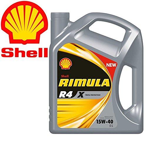 Shell rimula R4X 15W40Ci4E7DH1–Aceite motor diesel para autotrazione pesante–Lata de 5l