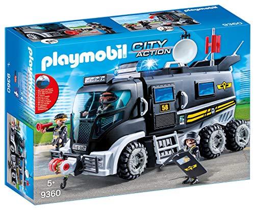 Playmobil - Camion Policiers d'Élite avec Sirène et Gyrophare - 9360