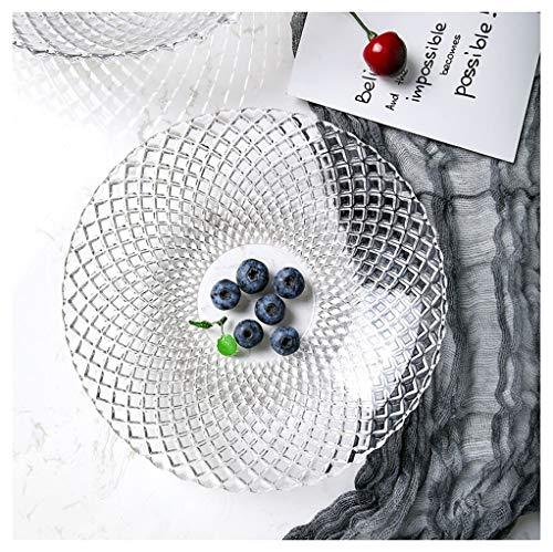 Panier à fruits Assiette de fruits Verre Bol de fruits Creative Salon moderne simple Panier de fruits transparent Nordic Home -0 (taille : 21.8x3.8cm)