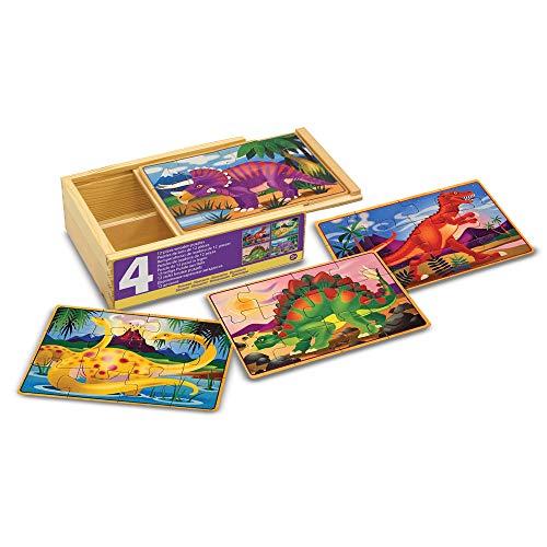 Melissa & Doug - 13791 - 4 Puzzles En Bois - Dinosaures