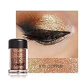 kingpo Powder Diamond Pearl Lidschatten Lippen Highlighter FOCALLURE Highlights Schimmern Glitzer...