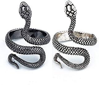 Cobra Ring Rare golden Silver snake Ring Serpent Signet with Snake 925 silver Anaconda ring