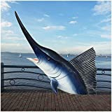 3D Wall Art Animal Pesca de Pez Vela colgar de la pared de simulación Fish ilustraciones Réplicas Jardín Océano pez vela hogar moderno Decoración