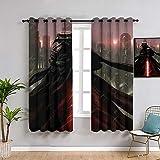 Sdustin Star-Wars - Cortinas de salón (116 x 160 cm), diseño de sable de luz de fuerza despertar cortinas personalizadas, cortinas opacas para dormitorio y sala de estar