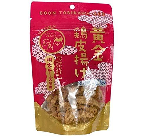 九州丸一食品 黄金鶏皮揚げ 明太チーズ風味 50g×3袋