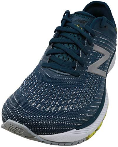 New Balance Mens' 860v10 Running Shoes (8.5 X-Wide, Supercell with Orion Blue & Sulphur Yellow)