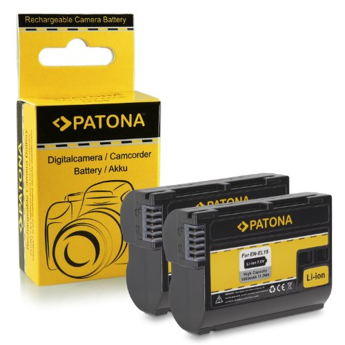 2x Batteria EN-EL15 per Nikon 1 V1 - Nikon D600 | D800 | D800E | D7000 | D7100