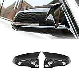 Couverture arrière de la fibre de carbone Couverture de miroir Remplacement Ox Horn Fit pour BMW 1...
