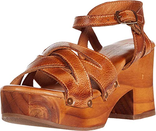 Bed|Stu Paulina Wooden Leather Clog Sandal (Mustard DD, 7)