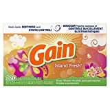 Gain Dryer Sheets with Freshlock, Island Fresh Scent, 120-count
