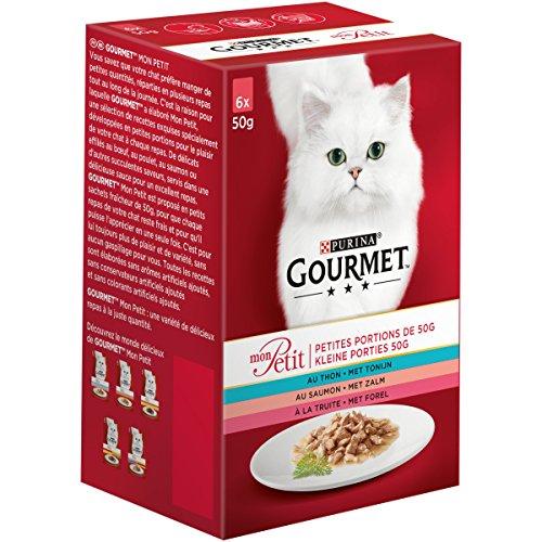 Purina Gourmet Ptée pour Chats Mon Petit Poissons, Les 48 Sachets, 6 x 50g (Lot de 8)