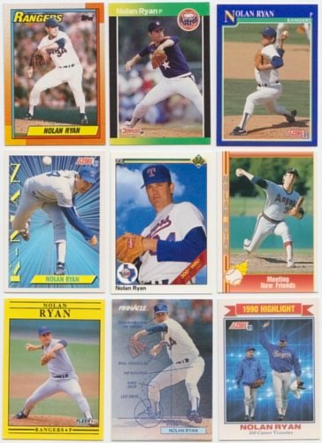Nolan Ryan / 50 Different Baseball Cards featuring Nolan Ryan