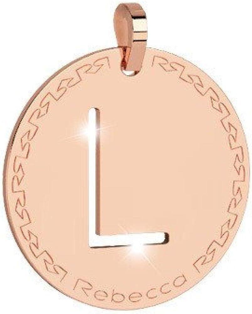 Rebecca pendente lettera l in bronzo placcato oro rosa BWRPRL62