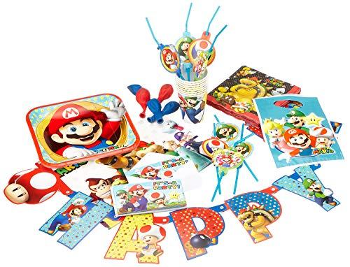 Amscan 9902642 Partyset Super Mario, Mehrfarbig