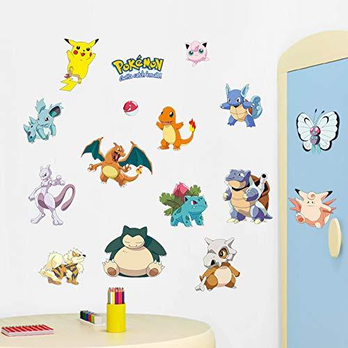 PISKLIU Muurstickers Pokemon Diy Generic Verwijderbare Sticker Muursticker Kinderkamer Huisdecoratie