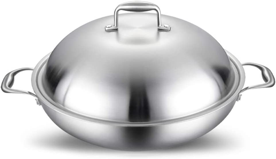 Stainless Steel Frying pan with Oklahoma City Mall 35% OFF Round lid Non-Stick Wok