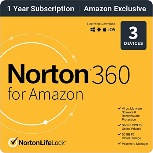 Norton 360 for Amazon 2021 Antivirus software for up to 3 Devices with Auto Renewal product image