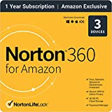 Norton 360 for Amazon – Antivirus software for up to 3 Devices with Auto Renewal [1-Year Subscription]