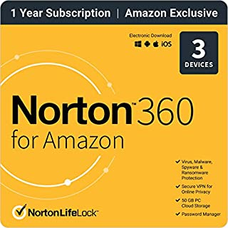 Norton 360 for Amazon 2021 – Antivirus software for up to 3 Devices with Auto Renewal (B085WWWH3C) | Amazon price tracker / tracking, Amazon price history charts, Amazon price watches, Amazon price drop alerts