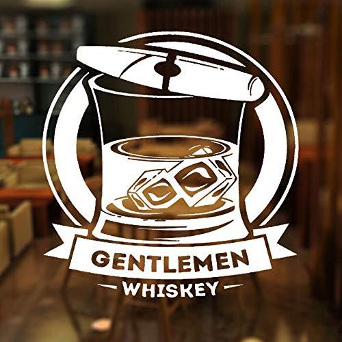 HNXDP Bar Alkohol Zigarre Whisky Tequila Wein Trinken Fenster Aufkleber Banner Vinyl Dekoration Flugzeug Wandtattoos Removable 42x44 cm