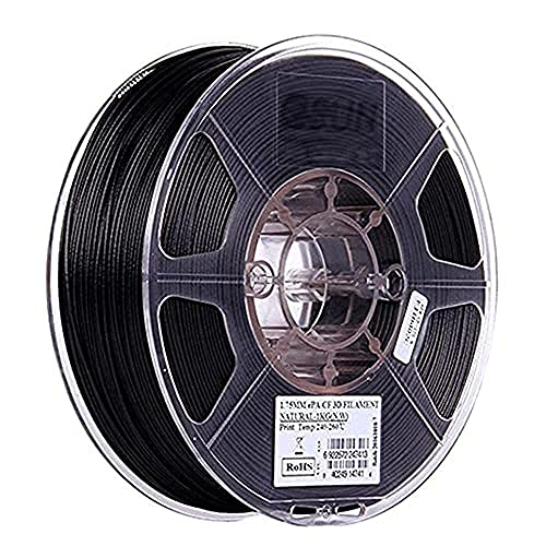 M I A filamento per stampante 3D in fibra di carbonio riempita filamento di nylon 1,75 mm, 1 kg, nero