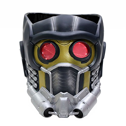 Pandacos Star Lord Maske Cosplay Helm mit LED aus Harz Neue Version für Herren Kostüm Zubehör