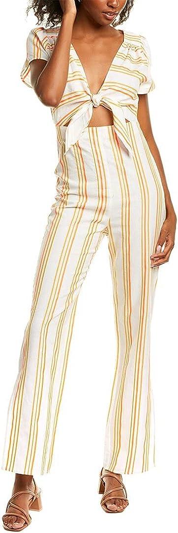 KENDALL + Max 53% OFF 35% OFF KYLIE Linen-Blend Tie-Front Jumpsuit