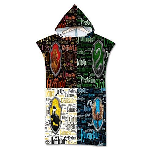 3D Geprint Strandlakens, Volwassen Hooded Badhanddoeken, Dames Surf Poncho, Zwem Robe Poncho Handdoek, Sport Cloak,F