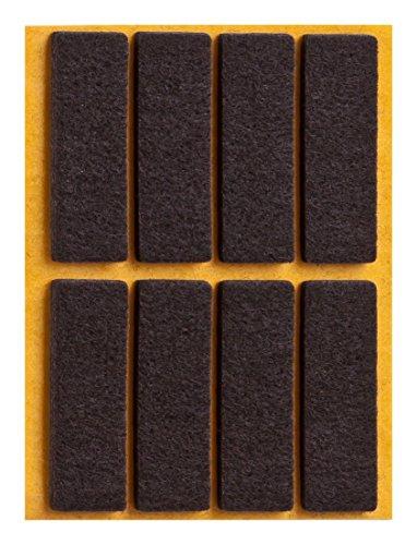 haggiy peha Filzgleiter - Parkettgleiter selbstklebend, eckig, 15x45 mm, braun (8 Stück)