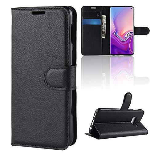 Lagui Hoes voor Samsung Galaxy S10, eenvoudig maar stijlvol portefeuille, mobielhoesje met vakjes voor pasjes en magnetische sluiting.